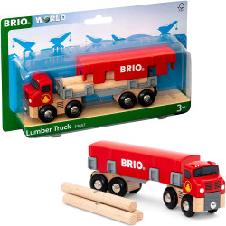 BRIO World 33657 Lumber Truck for Wooden Train Set