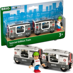 BRIO World 33838 Special Edition 2020 Silver Metro Train for Wooden Train Set