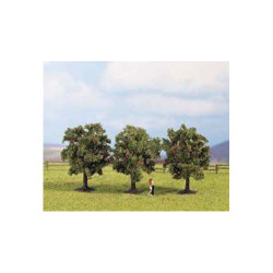 NOCH Apple (3) Classic Trees 4.5cm HO Gauge Scenics 25513