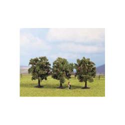 NOCH Apple (3) Classic Trees 4.5cm HO Gauge Scenics 25513