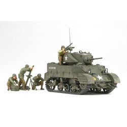 TAMIYA 35313 M5A1 with 4 Figures 1:35 Military Model Kit