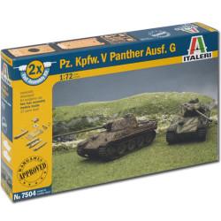 ITALERI Pz Kpfw. V Panther Ausf.G (fast assembly) 7504 1:72 Tank Model Kit