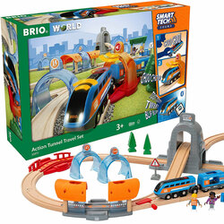 BRIO 33972 Smart Tech Sound - Action Tunnel Travel Set