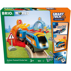 BRIO 33974 Smart Tech Sound - Action Tunnel Circle Set