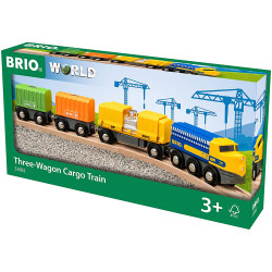BRIO 33982 Three Wagon Cargo Train