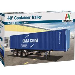 Italeri 3951 40' Container Trailer 1:24 Plastic Model Truck Kit