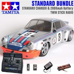TAMIYA RC 58571 Porche Carrera RSR TT-02 1:10 Standard Stick Radio Bundle