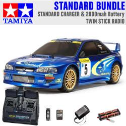 TAMIYA RC 58631 Subaru Impreza Monte Carlo TT02 1:10 Standard Stick Radio Bundle