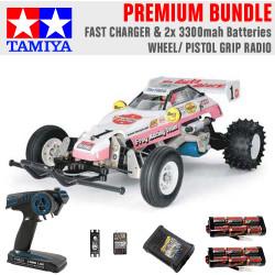 TAMIYA RC 58354 The Frog - Off Road Racer 1:10 Premium Wheel Radio Bundle