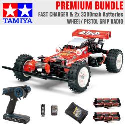 TAMIYA RC 58391 Hot Shot 2007 1:10 Premium Wheel Radio Bundle
