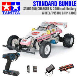 TAMIYA RC 58354 The Frog - Off Road Racer 1:10 Standard Wheel Radio Bundle
