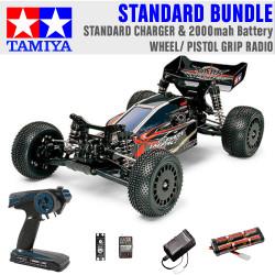 TAMIYA RC 58370 Dark Impact 4WD 1:10 Standard Wheel Radio Bundle