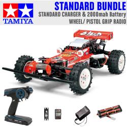 TAMIYA RC 58391 Hot Shot 2007 1:10 Standard Wheel Radio Bundle