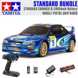 TAMIYA RC 58631 Subaru Impreza Monte Carlo TT02 1:10 Standard Wheel Radio Bundle