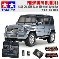 TAMIYA RC 58675 Mercedes-Benz G500 CC-02 1:10 Premium Stick Radio Bundle