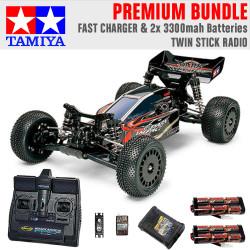 TAMIYA RC 58370 Dark Impact 4WD 1:10 Premium Stick Radio Bundle