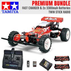 TAMIYA RC 58391 Hot Shot 2007 1:10 Premium Stick Radio Bundle