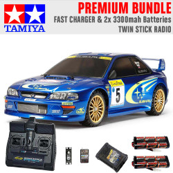 TAMIYA RC 58631 Subaru Impreza Monte Carlo TT-02 1:10 Premium Stick Radio Bundle