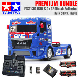 TAMIYA RC 58642 Team Reinert Racing TGS TT-01E 1:10 Premium Stick Radio Bundle