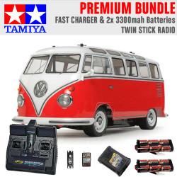 TAMIYA RC 58668 Volkswagon Type 2 Combi Van 1:10 Premium Stick Radio Bundle