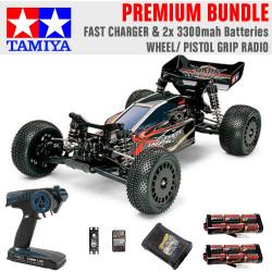 TAMIYA RC 58370 Dark Impact 4WD 1:10 Premium Wheel Radio Bundle
