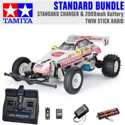TAMIYA RC 58354 The Frog - Off Road Racer 1:10 Standard Stick Radio Bundle