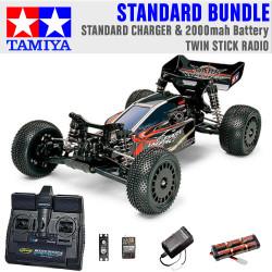 TAMIYA RC 58370 Dark Impact 4WD 1:10 Standard Stick Radio Bundle