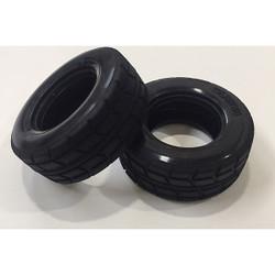 Tamiya 51589 On Road Racing Truck Tires/Tyres (2 Pcs.) (MAN Hahn/TT01/TT02)
