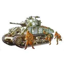 TAMIYA 35251 M4A3 Sherman Tank w 105mm Howitzer 1:35 Military Model Kit