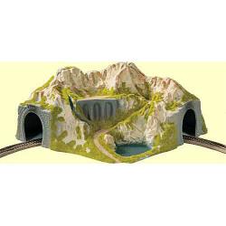 NOCH Single Track Curved Tunnel 41x37x20cm HO Gauge Scenics 05130
