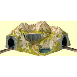 NOCH Single Track Curved Tunnel 41x37x20cm HO Gauge Scenics 05130