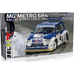 Belkits Bel015 MG Metro 6R4 Monte Carlo Rally 1986 1:24 Plastic Car Model Kit