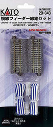 Kato Unitrack WS62FPC-WS62PC CS Dual Straight Feeder Track 62mm N Gauge 20-043