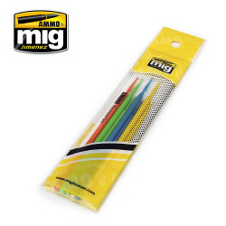 Ammo by Mig Sniperbrush Collection Set For Model Kits Mig 8570