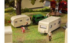 FALLER Caravans (2) Fairground Model Kit IV HO Gauge 140483