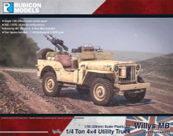 Rubicon Models 280050 Willys Mb ¼ Ton 4X4 Truck - Commonwealth 1:56 Model Kit