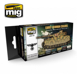 Ammo by Mig Early German Colours Acrylic Paint Set For Model Kits Mig 7100