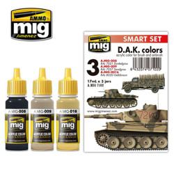Ammo by Mig Africa Korps Acrylic Paint Set For Model Kits Mig 7102