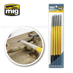 Ammo by Mig Rubber Brush Set For Model Kits Mig 7606