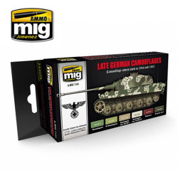 Ammo by Mig Late War German Colours Acrylic Paint Set For Model Kits Mig 7101
