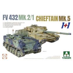 Takom 5008 Chieftain Mk.5 & FV 432 Mk.2/1 Tank 1:72 Plastic Model Tank Kit