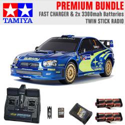 TAMIYA RC 47372 Subaru Impreza Mexico 2004 TT01E 1:10 Premium Stick Radio Bundle
