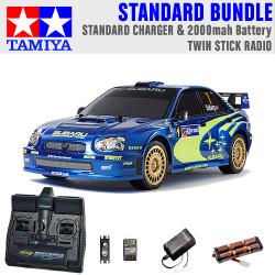 TAMIYA RC 47372 Subaru Impreza Mexico '04 TT01E 1:10 Standard Stick Radio Bundle