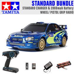 TAMIYA RC 47372 Subaru Impreza Mexico '04 TT01E 1:10 Standard Wheel Radio Bundle