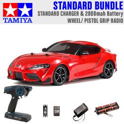 TAMIYA RC 58674 Toyota GR Supra 2019 TT-02 1:10 Standard Wheel Radio Bundle