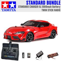 TAMIYA RC 58674 Toyota GR Supra 2019 TT-02 1:10 Standard Stick Radio Bundle