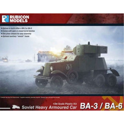 Rubicon Models 280084 Ba-3 / Ba-6 Heavy Armoured Car 1:56 Plastic Model Kit