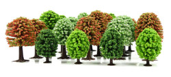 GAUGEMASTER HORNBY SCALEXTRIC 25 x Trees Deciduous Spring OO Gauge Scenics GM124