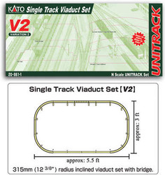 Kato Unitrack (V2) Single Track Viaduct Track Set N Gauge 20-861