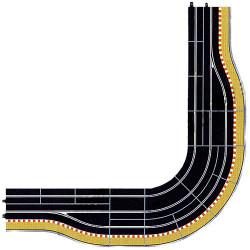 SCALEXTRIC BUNDLE C7015 C7016 C7017 C7019 C8206 C8207 Pit Lane Corner